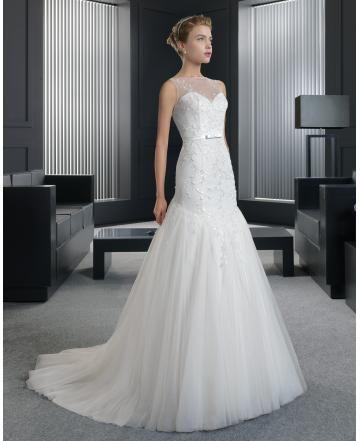 Spetslook Tyll Dragkedja Bröllopsklänningar 2015