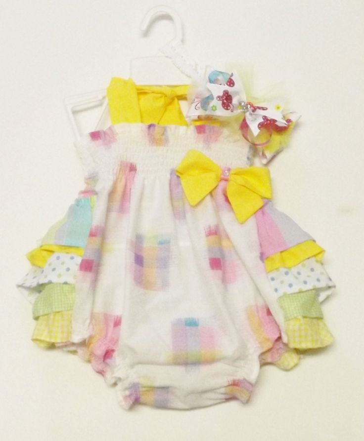 Shirred Rufflle Bum Vintage Style Baby Sunsuit by AntoinetteExclusives on Etsy
