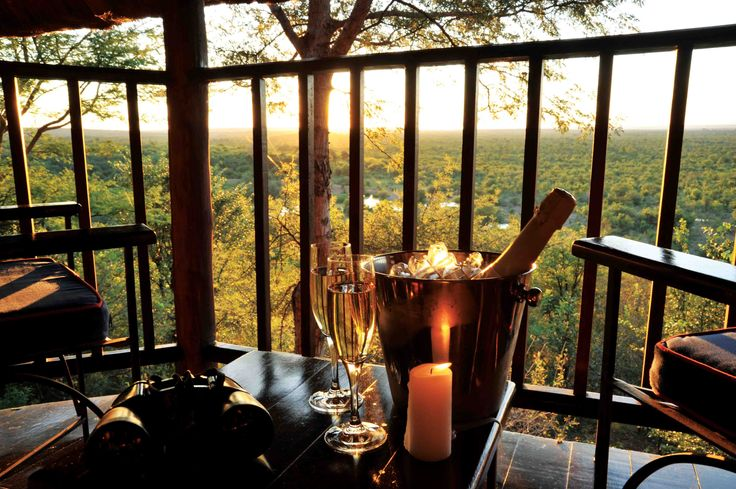 An ideal out-of-town base, this award-winning Zimbabwean safari lodge has spectacular views and is located just four kilometres from #Victoria #Falls: Victoria Falls Safari Lodge. #Africa #Zimbabwe #romance #proposal