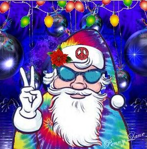 ☮ American Hippie ☮ Holiday .. Santa