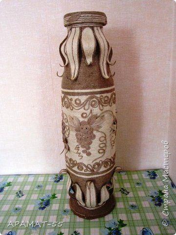 Поделка изделие Моделирование конструирование Напольная ваза Картон гофрированный Шпагат фото 1