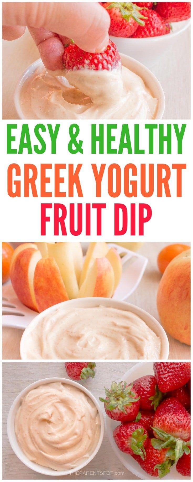 Easy 3 Ingredient Greek Yogurt Fruit Dip Recipe With Peanut Butter Recipe Healthy Greek Yogurt Dip Peanut Recipes Healthy Greek Yogurt