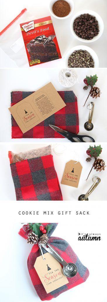 Diese Cookie-Mix-Geschenksäcke sind ein entzückendes, handgemachtes Weihnachtsgeschenk und sie … #cookie #diese #entzuckendes #geschenksacke #handgemachtes #weihnachtsgeschenk