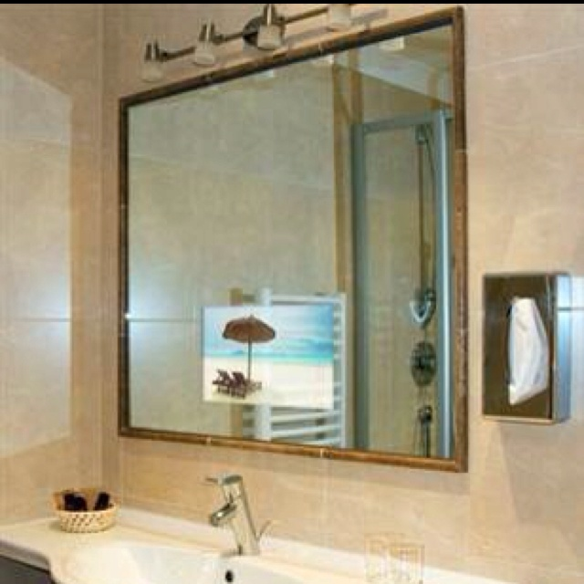17 best images about hidden flat screens on pinterest - Bathroom mirror with hidden storage ...