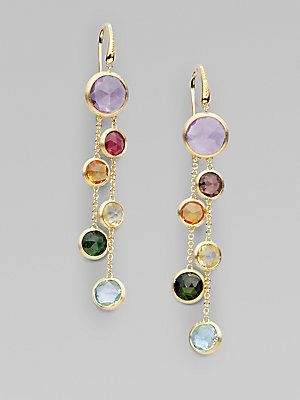 Marco Bicego Mixed Semi-Precious Stone & 18K Yellow Gold Earrings