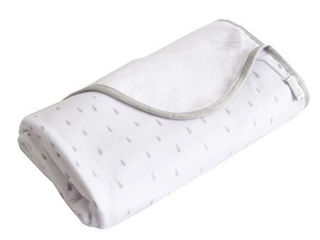 Cotton Jersey Rain Drop Large Baby Blanket / Wrap
