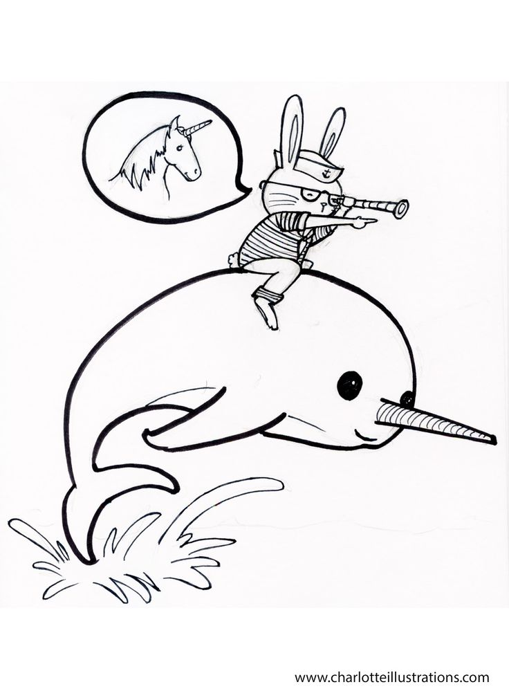 Narwhal Coloring Pages Cakes