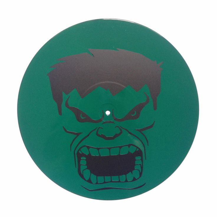 HULK Disco de vinilo decorativo Vinyl record wall art (spray color). | eBay!
