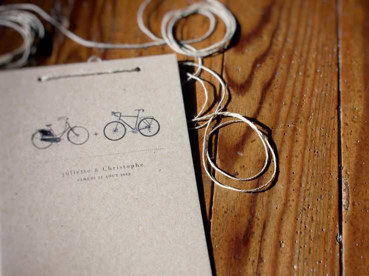 Célèbre Best 25+ Wedding invitations bicycle ideas on Pinterest | Kraft  LE35