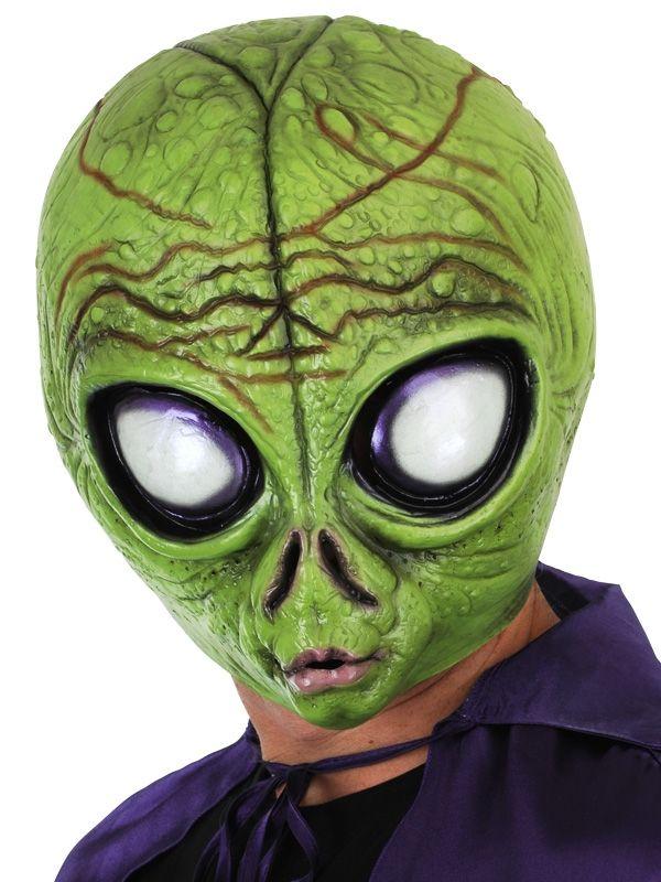 Alien Mask Lime Green - Full Face - AZ PARTY