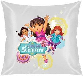 Dora ve Arkadaşları - Macera Zamanı Kendin Tasarla - Kare Yastık 40x40cm