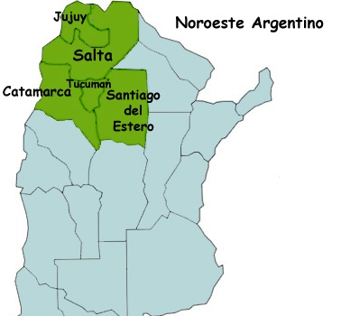 mapa norte argentino