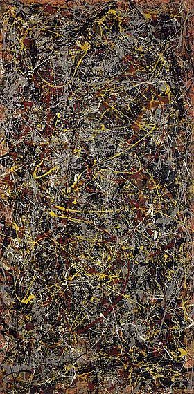 Wild Jackson Pollock style.....it speaks of the random complexities of life. Very unpredictable.....