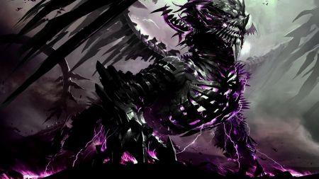 purple lightning dragon �ɑɳ�ɑ�y pinterest dragon