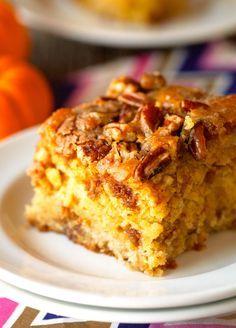 Pumpkin Coffee Cake via Deliciously Yum!
