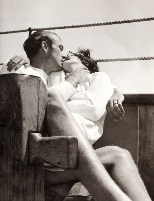 Gary Cooper with his wife, Rocky, 1930s.