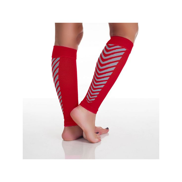 Calf Compression Running Sleeve Socks - Adult, Red