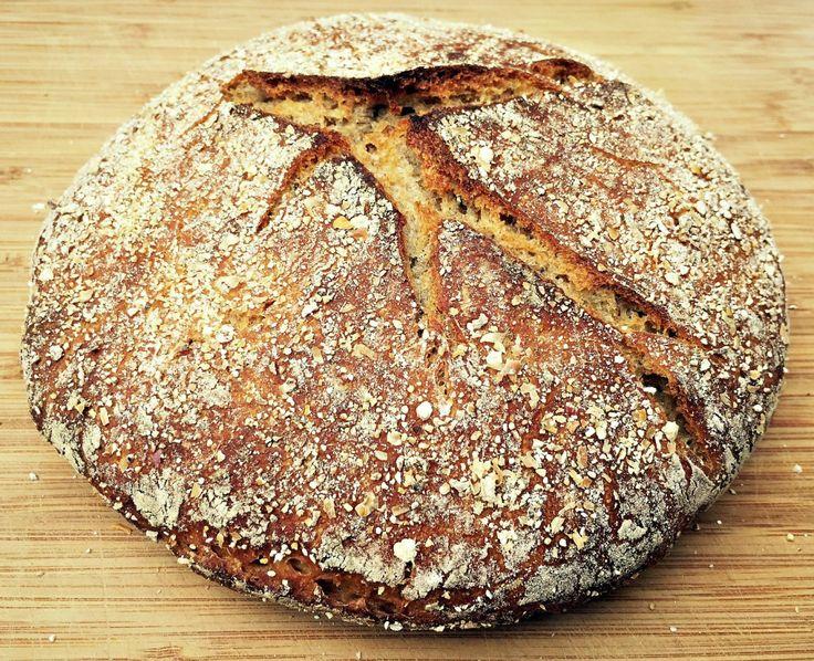 no knead sourdough rye bread