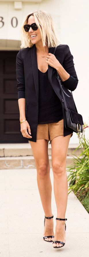 Camel Shorts Chic Style by Damsel In Dior