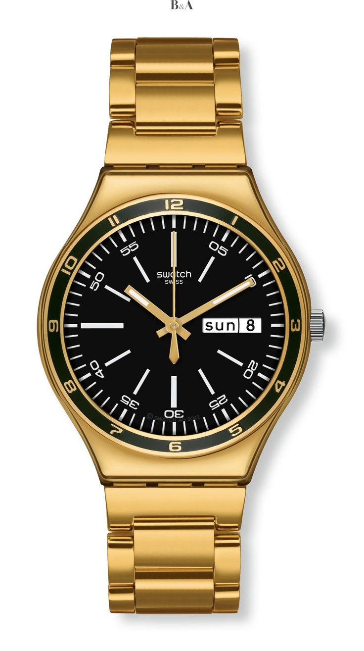 Swatch Irony Big Charcoal Yellow Medal YGG705G