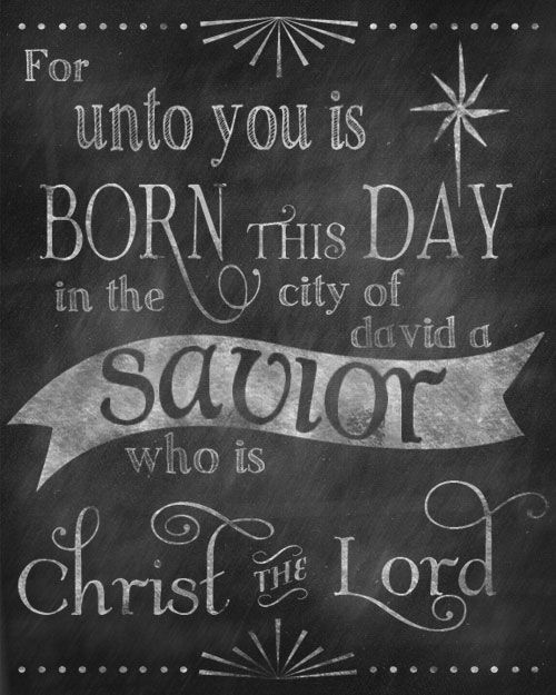 Christ the Lord Chalkboard Printable from Love Pomegranate House