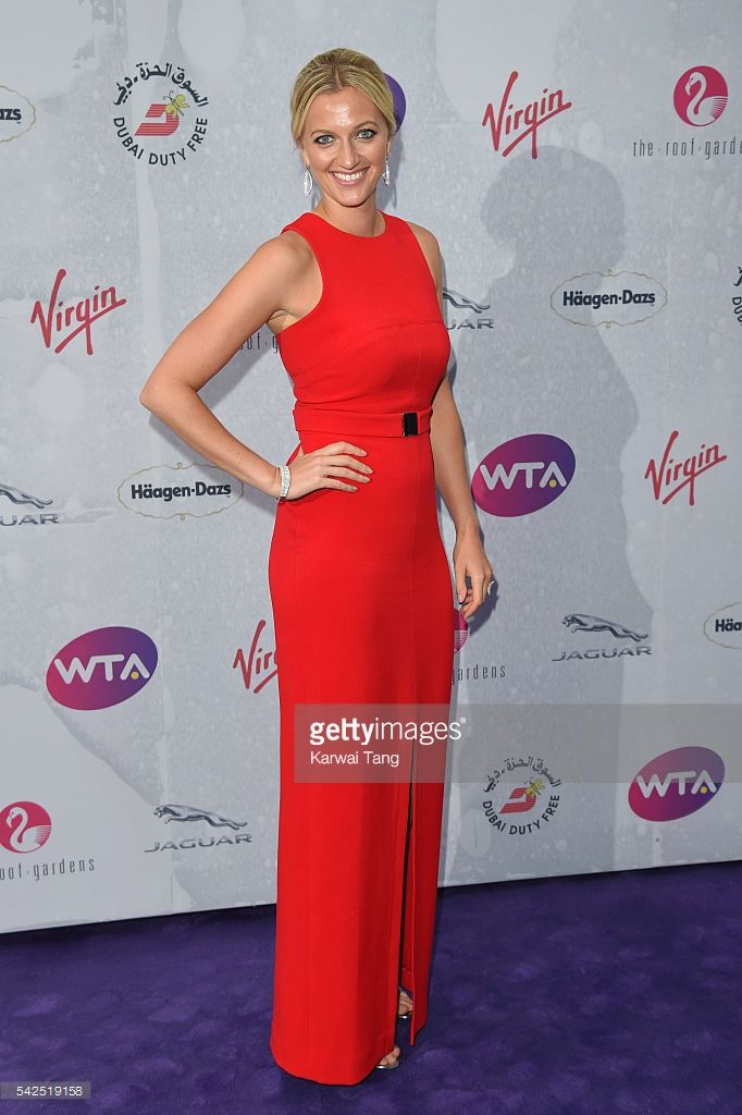 Petra Kvitova arrives for the WTA Pre-Wimbledon Party at Kensington Roof Gardens on June 23, 2016 in London, England.