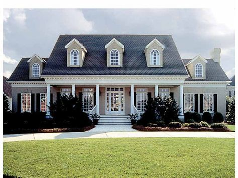 Eplans House Plan: This attractive plantation-style home exhibits a floor plan that is completely  up-to-date, beginning with the secluded master suite and its lavish bath. The  foyer is flanked by the living room and the din