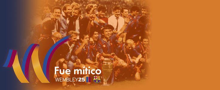 El Barça invita a los socios y aficionados a participar en los actos de conmemoración del 25 aniversario de Wembley - FC Barcelona
