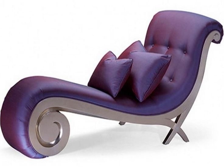Artistic Purple Chaise Lounge Chairs For Bedroom