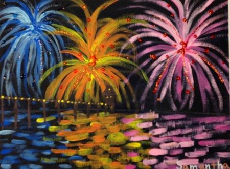 fireworks, Artsonia Art Museum :: Artwork by Samantha11977