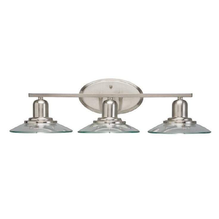Lowes - allen + roth 3-Light Brushed Nickel Bathroom Vanity Light, $98.98