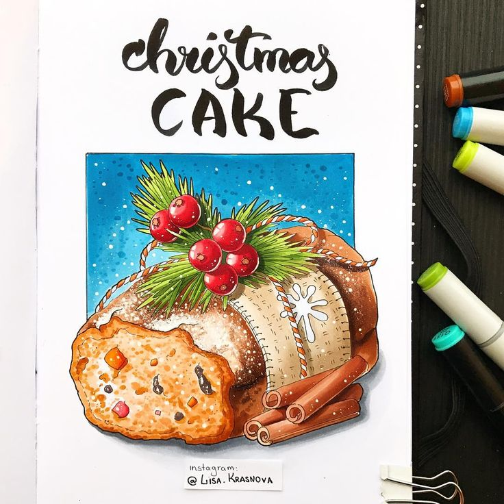 Christmas is a time for sweets and tasty things    В России я пока не сталкивалась с традицией печь кексы на Новый год, но мне кажется, что это стоит исправить ;) А пока тема 7/8 нашего марафона - новогодние блюда и их рецепты :) Рисуйте и не забывайте хэштег #lk_newyear. Финальная тема будет в понедельник ;)
