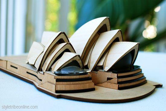 Sydney Opera House. Model by Marcus Bree from Little Building Co. Photo: Susan Schwartz www.styletribeonline.com