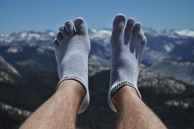 toe-sock liners = blister prevention