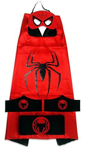 MyTinyHeroes Children's Superhero Costume - 5 Pc Set - Spiderman >>> Check this awesome product by going to the link at the image.