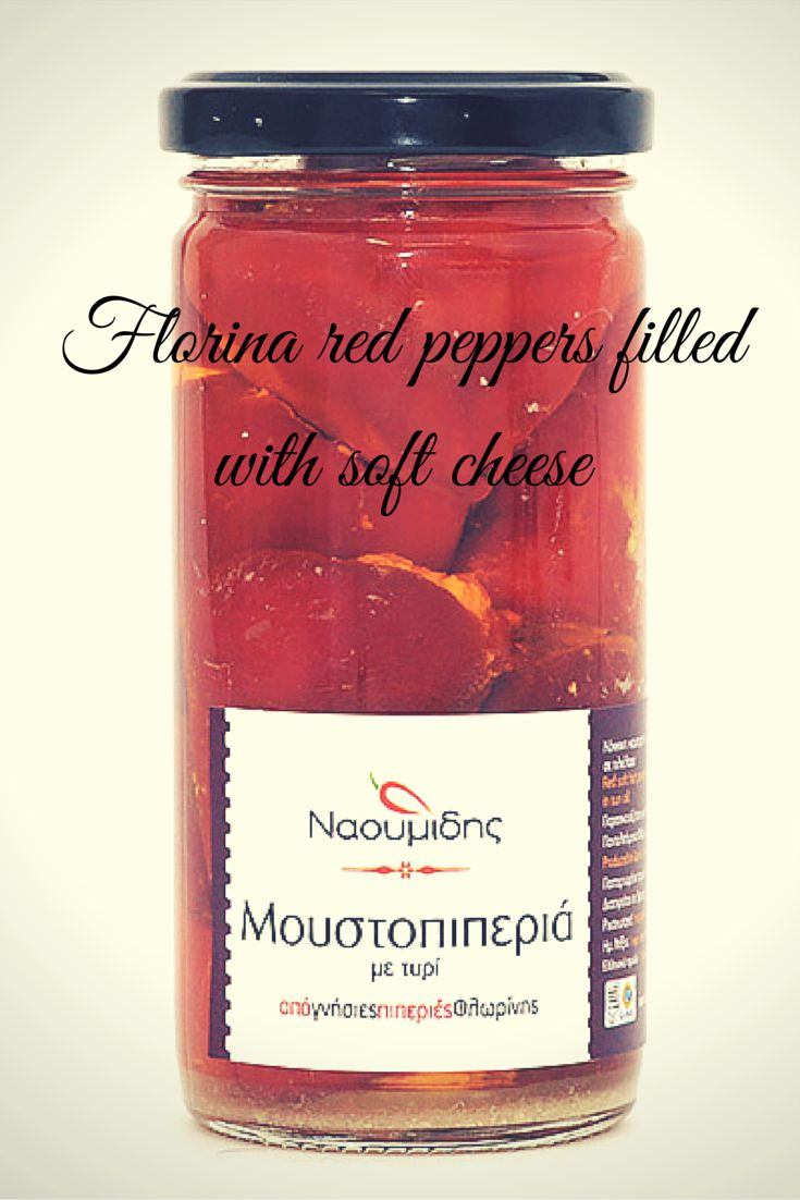 The Best pepper starter ever!!!! Florina red peppers filled with soft cheese.