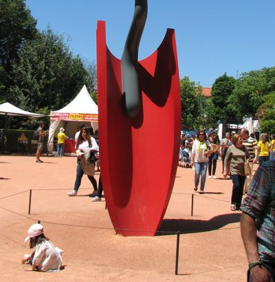 Serralves zomerfestival in Porto Portugal