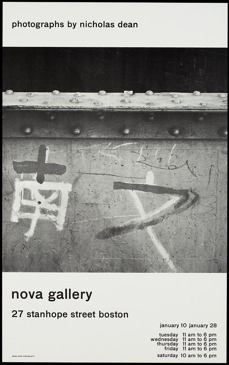 Pieter Brattinga, nova gallery boston photographs by nicolas dean, Amsterdam, 1960