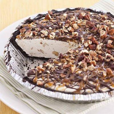 Super Simple Caramel Turtle Ice Cream Pie | Recipe ...