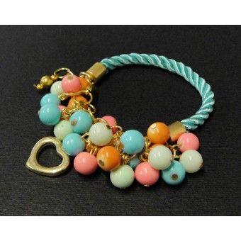 Pulsera de Moda con Perlas y Cordón de Seda