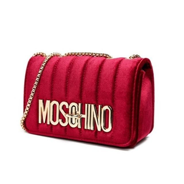 1dcf6669e4 Moschino Inspired Velvet Bag