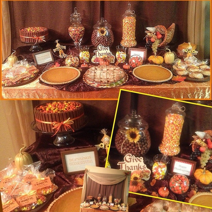 thanksgiving candy buffet table kitkatcake