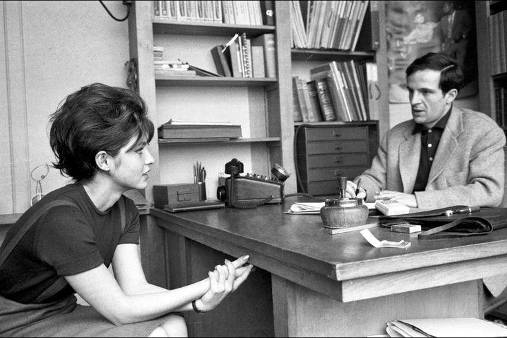 Marie-France Pisier and François Truffaut by Jean-Claude Sauer, 1962
