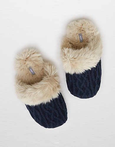 Aerie Cozy Sweater Slipper , Navy | Aerie for American Eagle