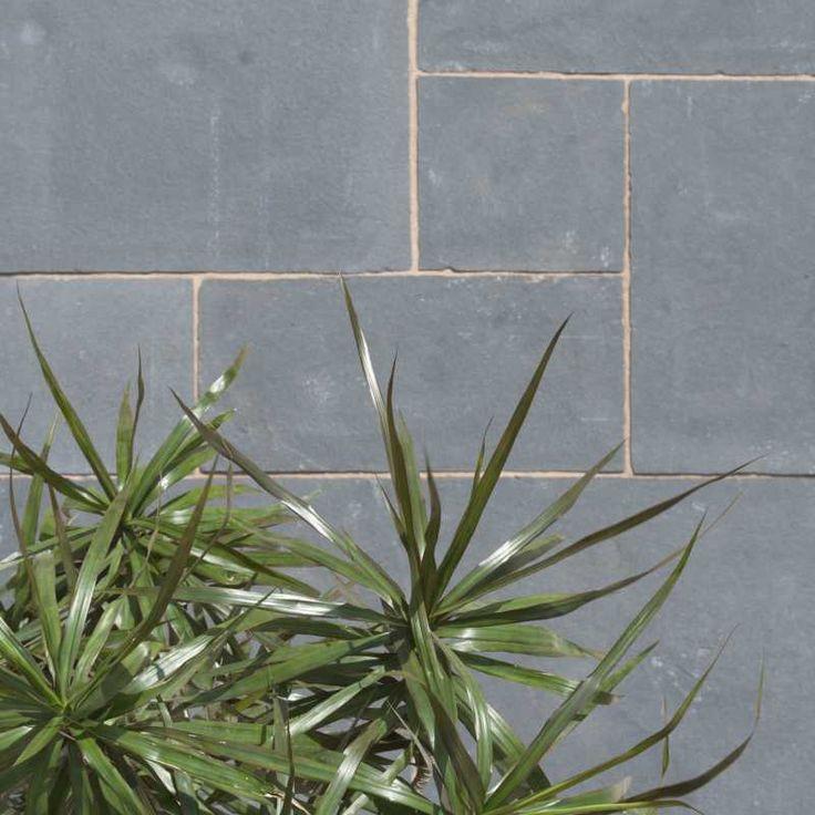 Beautiful black limestone paving
