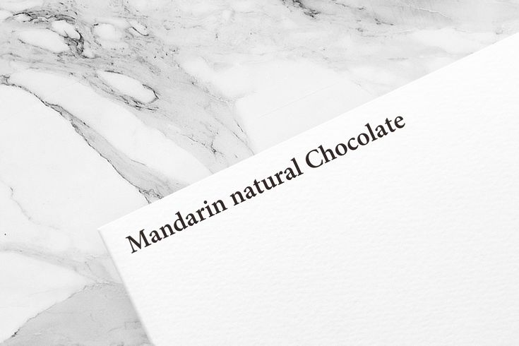 Mandarin natural Chocolate | Yuta Takahashi