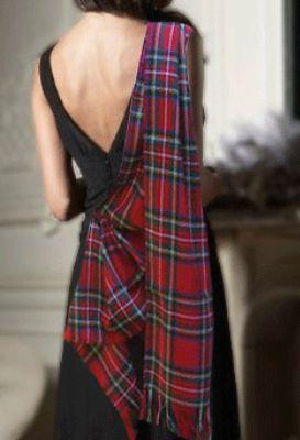 a tartan sash with formal wear