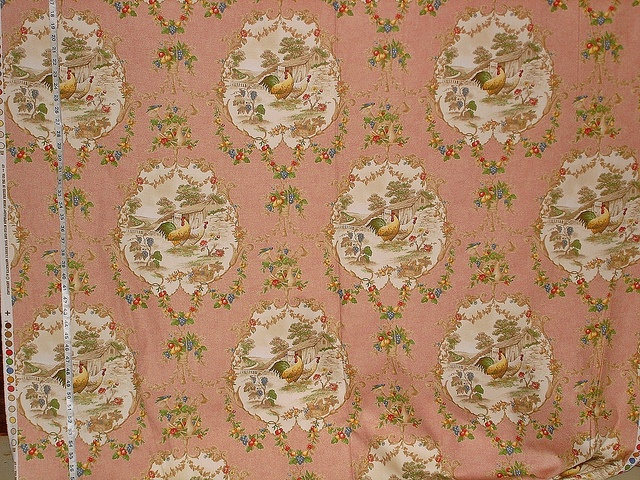 Red Rooster Toile Fabric Red Rooster And Toile