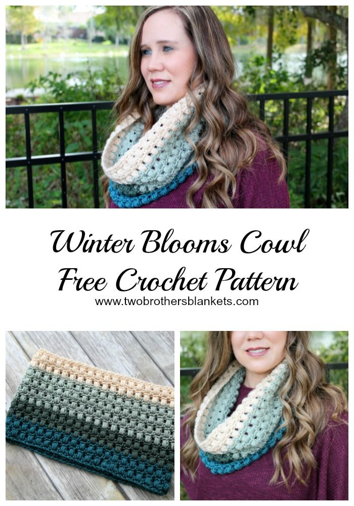Winter Blooms Cowl- Free Crochet Pattern - Two Brothers Blankets ...