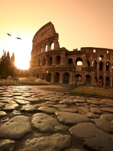 Colosseum and Via Sacra, Sunrise, Rome, Italy again